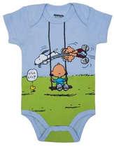 Body Bebê Menino Snoopy Azul Bebê