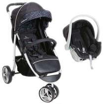 Carrinho de Bebê + Bebê Conforto Travel System Apollo Preto Galzerano