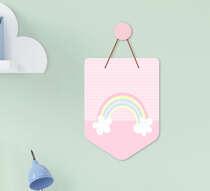 Flâmula Infantil Bebê Menina Arco-íris Rosa