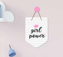 Flâmula Infantil Bebê Menina Girl Power