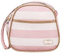Frasqueira Maternidade Térmica Listras Rosa e Branco