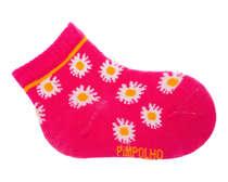 Meia Bebê Recém-Nascido Florzinha Rosa Pink