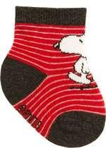 Meia Recém-Nascido Snoopy Vermelha Pimpolho