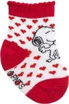 Meia Recém-Nascido Snoopy Vermelho Pimpolho