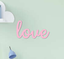 Palavra Decorativa Infantil Love Rosa