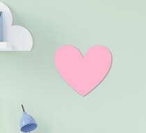 Placa Infantil MDF Menina Coração Rosa