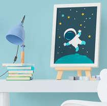Quadro Infantil Bebê Menino Astronauta