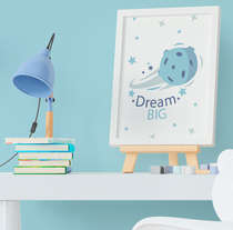 Quadro Infantil Cometa Dream Big