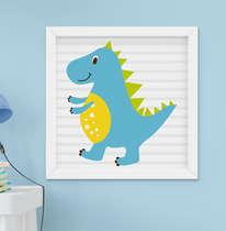 Quadro Decorativo Infantil Bebê Menino Dinossauro