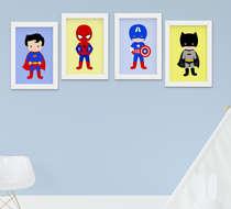 Quadro Infantil Menino Super Heróis