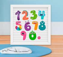 Quadrinho Infantil Bebê Menino Números