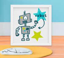 Quadro Decorativo Infantil Bebê Menino Robozinho Star