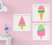 Quadro Infantil Sweet Kit 3 Peças