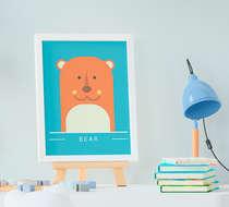 Quadro Decorativo Infantil Bebê Menino Urso Bear