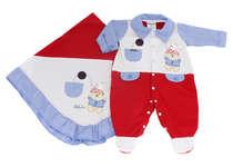 Saída de Maternidade Bebê Menino 2 Peças Amiguinhos Vermelho