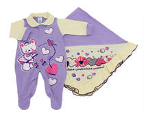 Saída de Maternidade Bebê Menina 2 Peças Baby Love Lilás