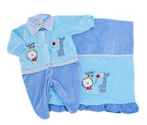 Saída de Maternidade Bebê Menino 2 Peças Basket Azul