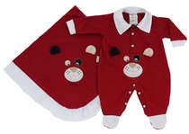 Saída de Maternidade Bebê Menino 2 Peças Cachorrinho Vermelho