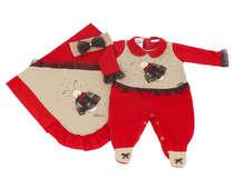 Saída de Maternidade Bebê Menina 3 Peças Joaninha Vermelha
