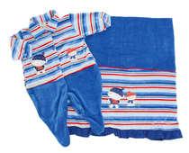 Saída de Maternidade Meninos Azul 2 Peças