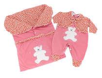 Saída de Maternidade Bebê Menina 2 Peças Ursinha Rosa Bebê