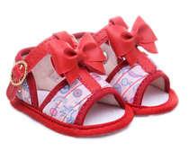 Sandália Bebê Menina Arco Íris Vermelha
