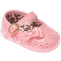 Sapato Bebê Menina Afago Rosa