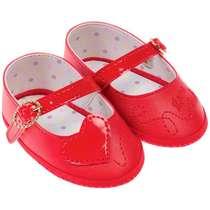 Sapato Bebê Menina Coração Vermelho