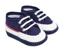 Tênis Bebê Menino Azul Marinho e Branco