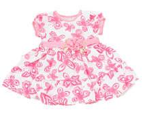 Vestido Bebê Borboletas Rosa