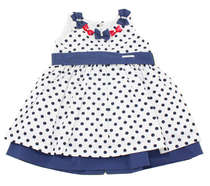 Vestido Bebê Poá Azul