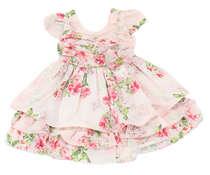 Vestido Bebê Floral Rosa