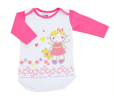 Body Bebê Menina Ursinhos Rosa