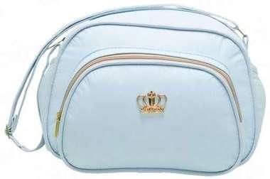 Bolsa Maternidade Bebê Coroa Azul Bebê Pequena
