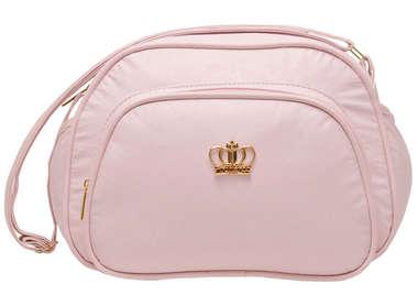 Bolsa Maternidade Bebê  Coroa Rosa Bebê Pequena