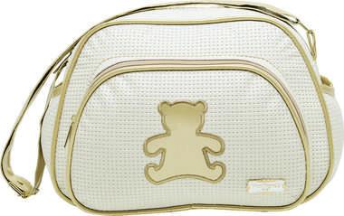 Bolsa Maternidade Bebê Ursinho Dourado Pequena