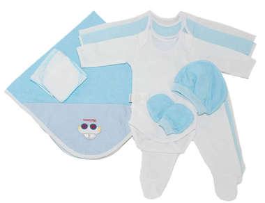 Kit Enxoval Maternidade Bebê Menino 13 Peças Azul