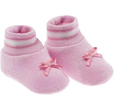 Kit Sapatinho Bebê Recém-Nascido Rosa