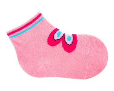Meia Bebê Recém-Nascido Borboletinha Rosa