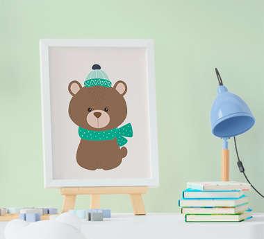 Quadrinho Infantil Bebê Menino Menina Animais Floresta Urso