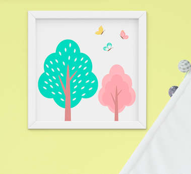 Quadro Infantil Árvores