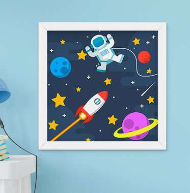 Quadrinho Infantil Bebê Menino Astronauta Espaço