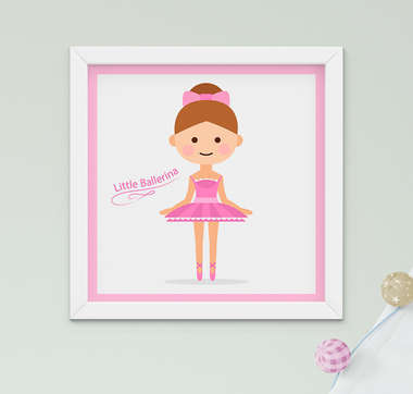 Quadro Bebê Infantil Menino Menina Bailarina Little