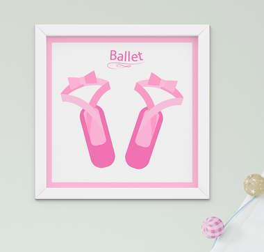Quadro Infantil Ballet Sapatilha