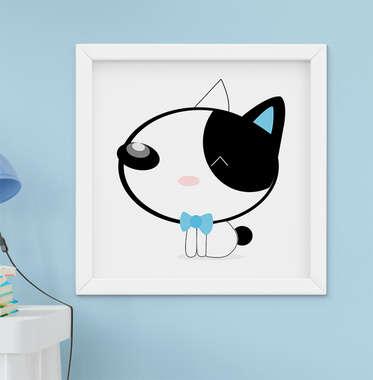 Quadro Decorativo Infantil Bebê Menino Cachorrinho Azul