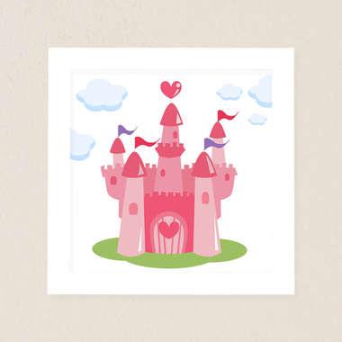 Quadro Infantil Castelo