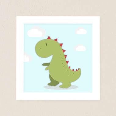 Quadro Infantil Dinossauro