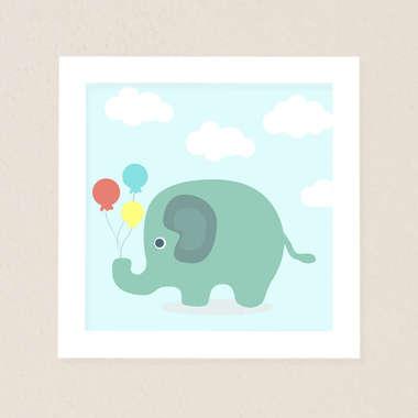 Quadro Infantil Elefante
