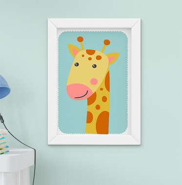 Quadrinho Infantil Bebê Menino Menina Girafa