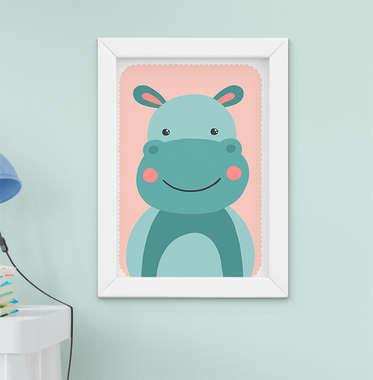 Quadro Infantil Hipopótamo